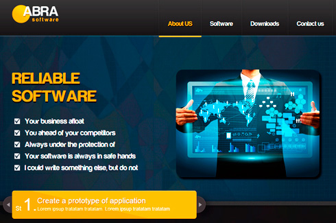 Abra software Template Шаблон Abra software